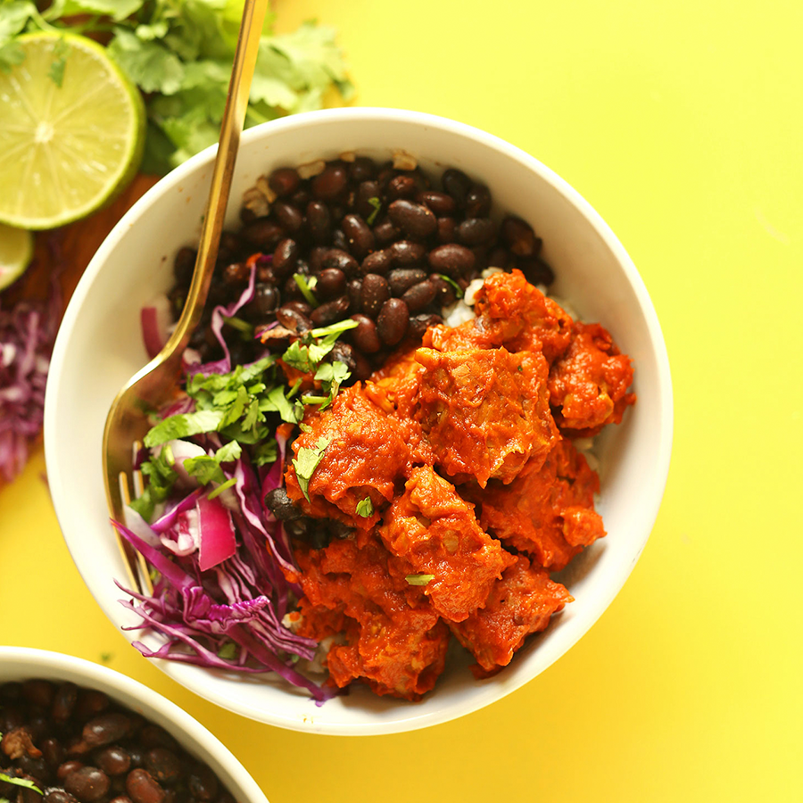 Tempeh Black Bean Bowl for one of our 14 High Protein Plant-Based Dish ideas