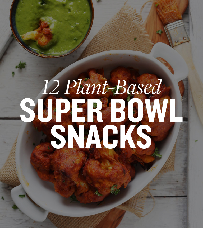 Get game day covered with these 12 Plant-Based Super Bowl Snacks!
