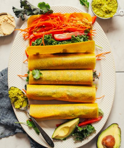 5-Minute Veggie Coconut Wraps