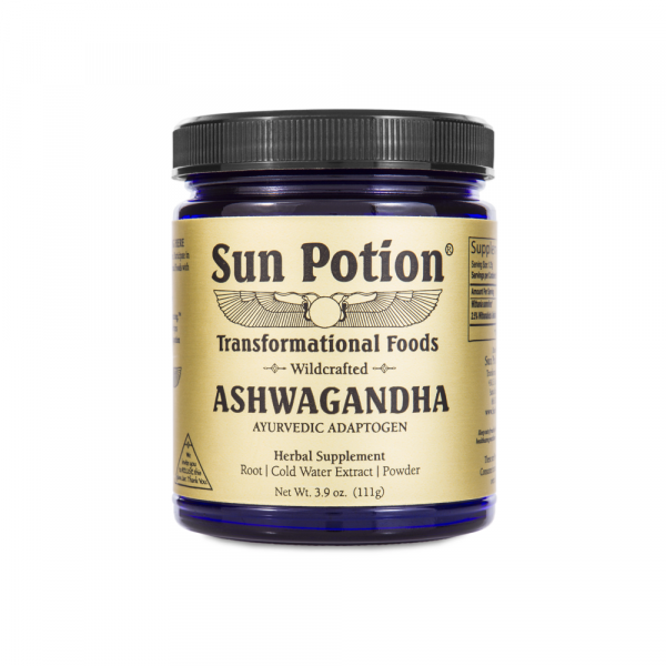 Jar of Sun Potion Ashwagandha for our favorite brand of this superfood
