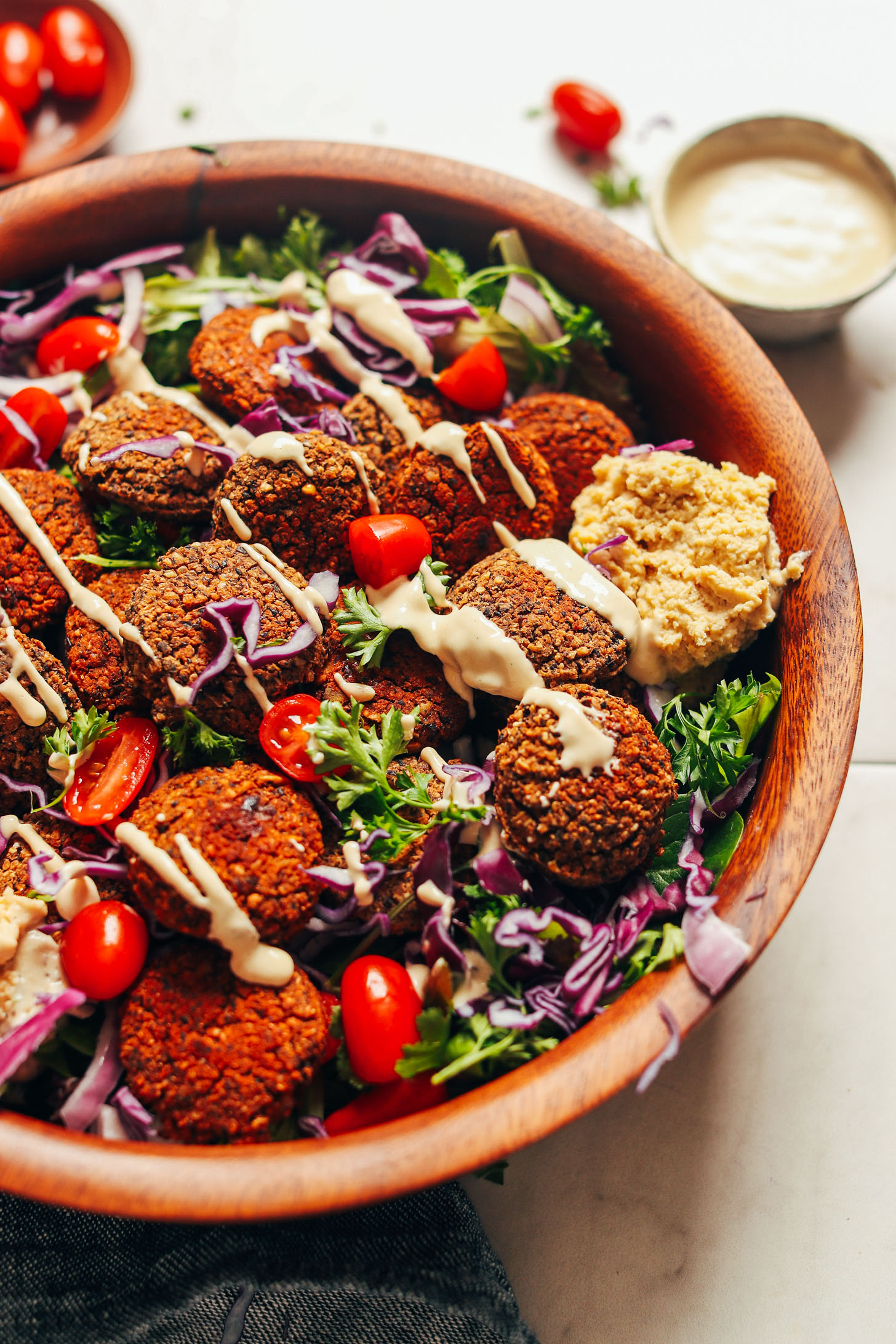 DELICIOUS Black Bean Quinoa Falafel! 10 wholesome ingredients, BIG flavor, so satisfying #vegan #glutenfree #falafel #plantbased #recipe #minimalistbaker
