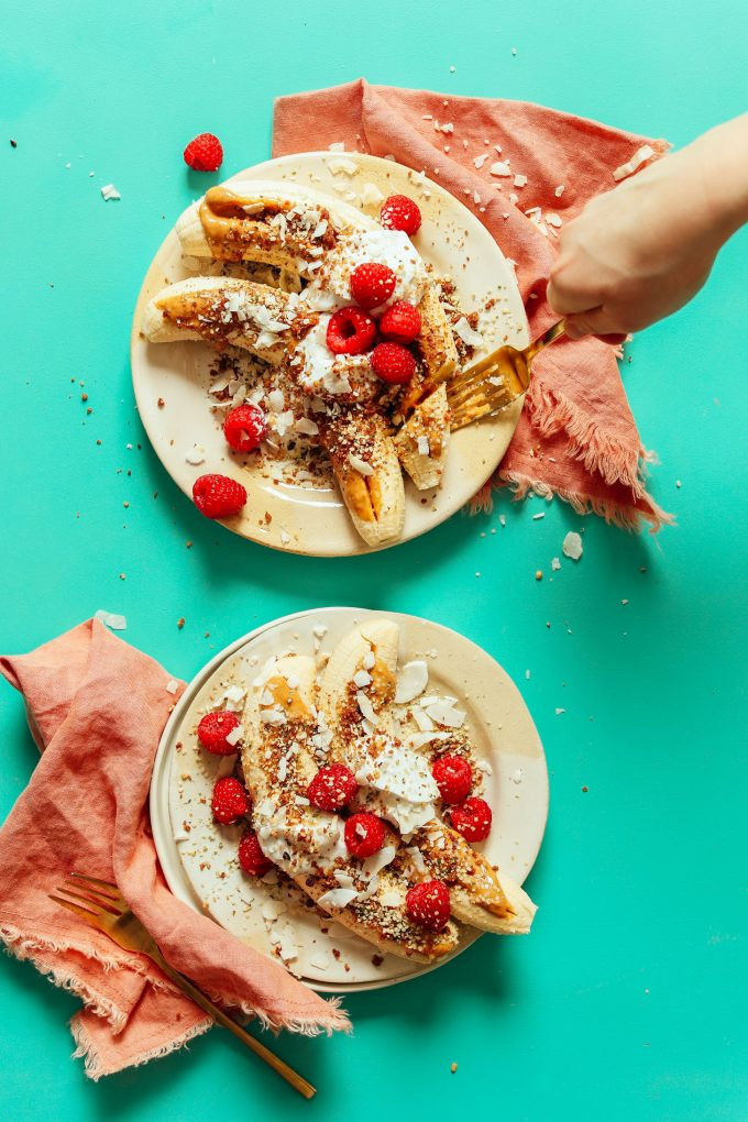 5-Minute Raw Banana Splits