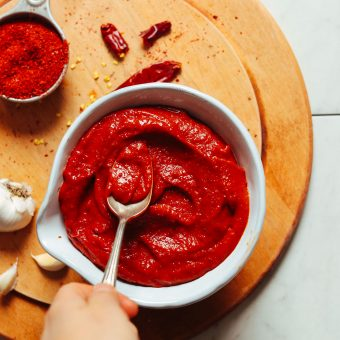 A bowl of our gluten-free vegan Korean-Inspired Gochujang recipe