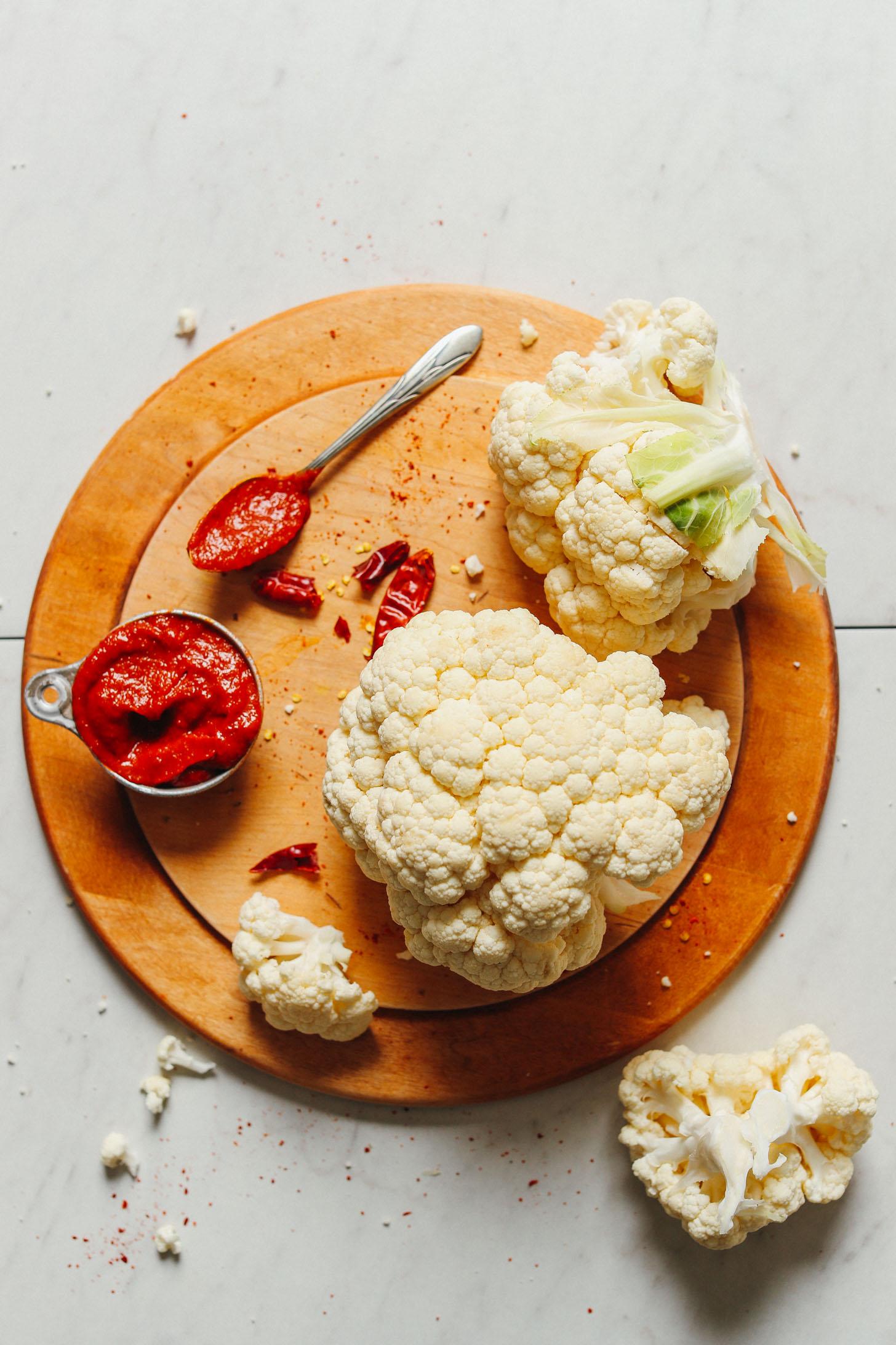INCREDIBLE Korean-Spiced Cauliflower Wings! 8 ing, 30 min, BIG flavor! #vegan #glutenfree #cauliflower #plantbased #recipe #minimalistbaker