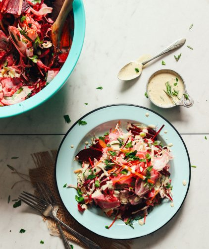 Super Cleansing Slaw with Rosemary Dressing