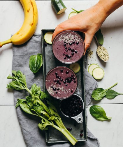 Creamy Zucchini Blueberry Smoothie