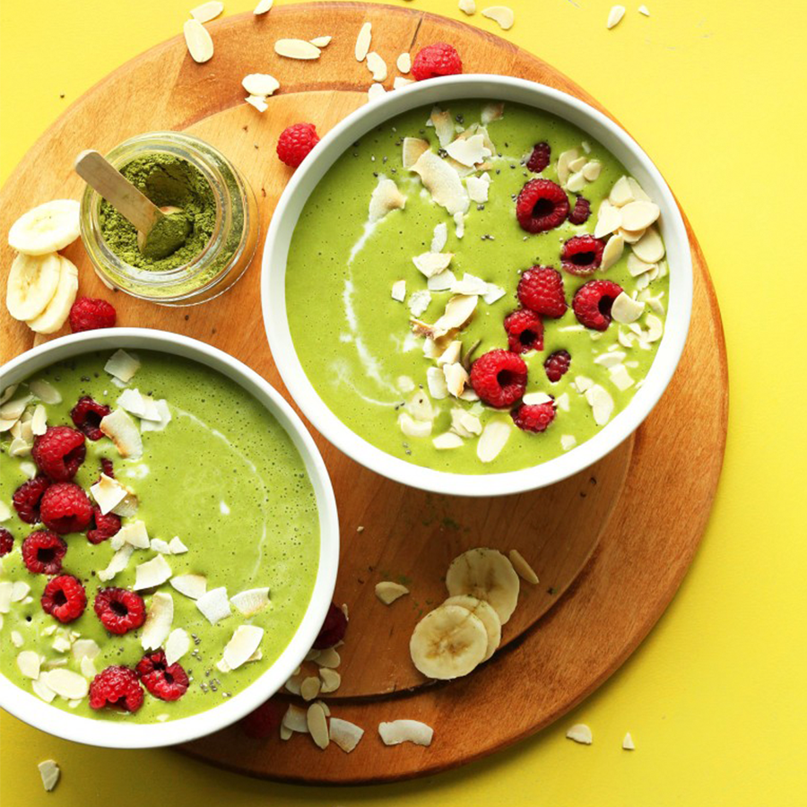 Two Matcha Green Smoothie Bowls for our Spring-Inspired Recipes roundup