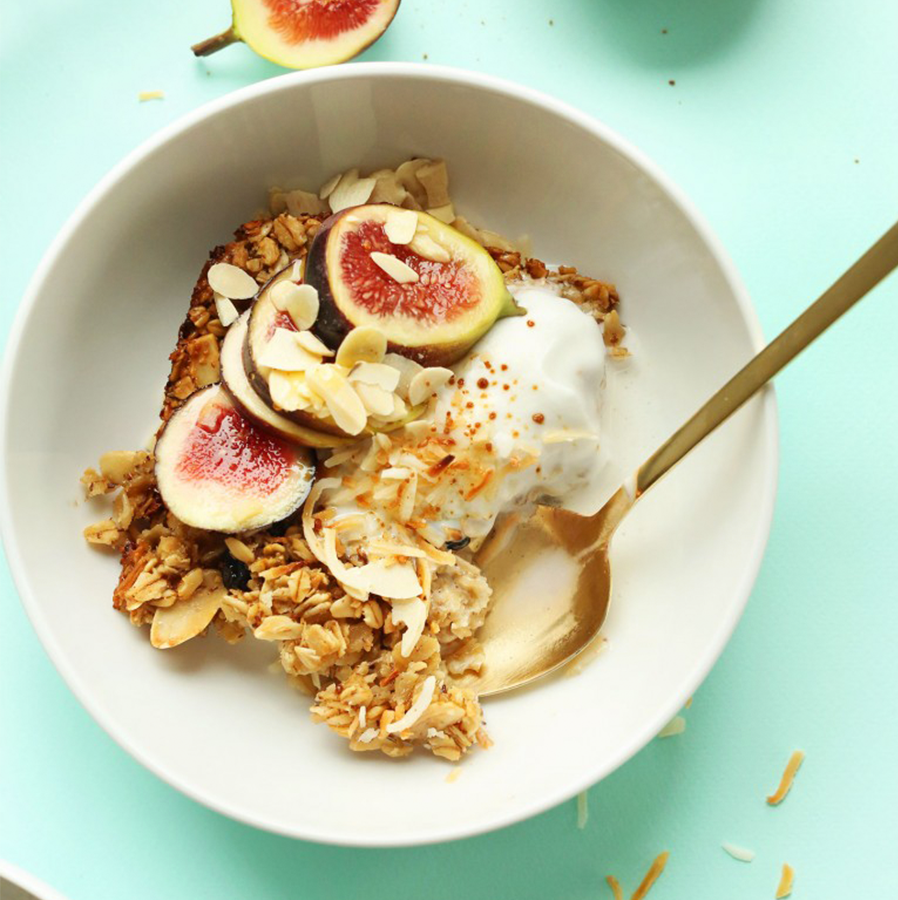Bowl of Toasted Coconut Baked Oatmeal as part of our 24 Spring-Inspired Recipes roundup