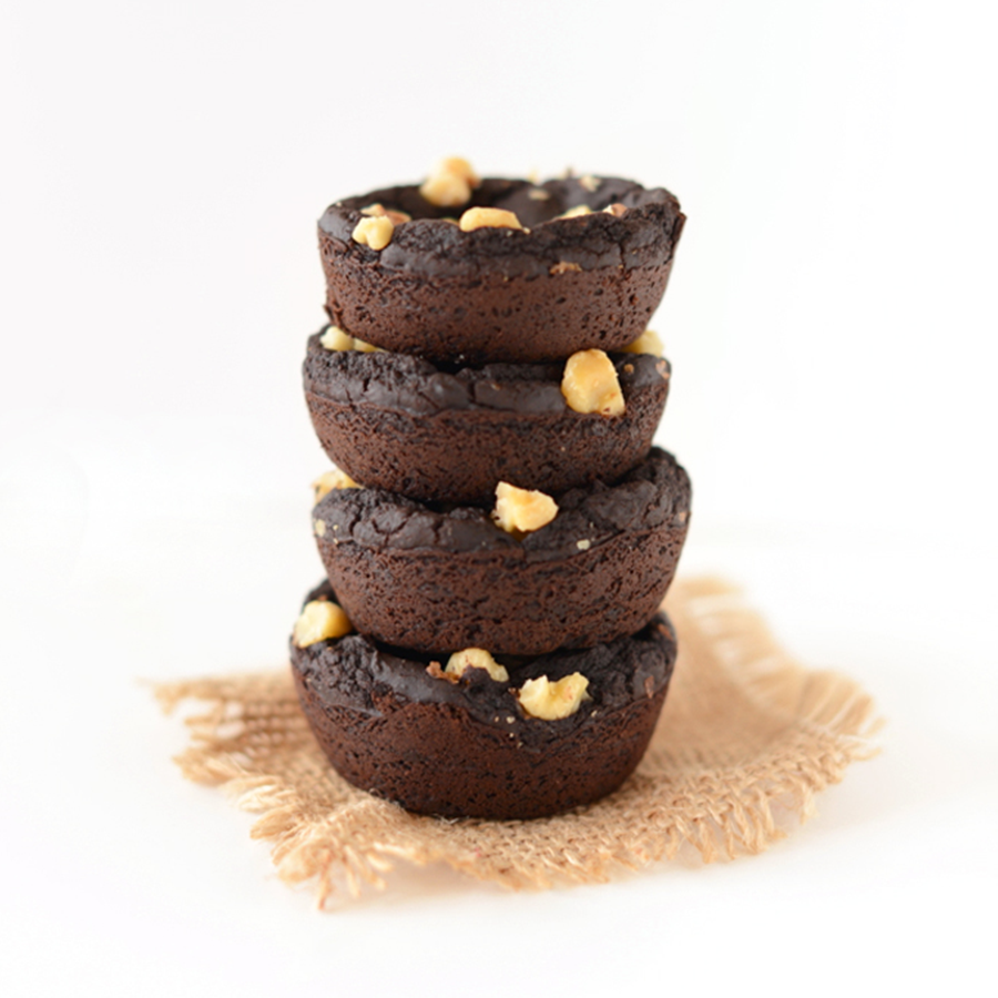 Stack of Black Bean Brownies for our roundup of BEST Vegan Desserts