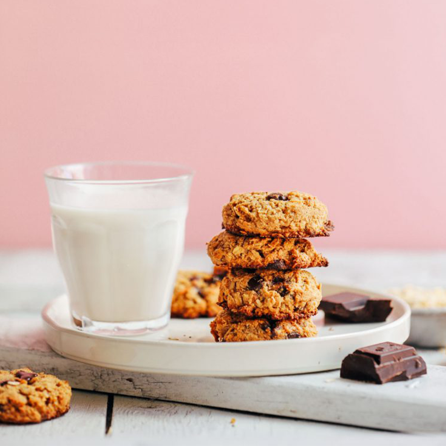Cookies and almond milk as part of our roundup of the BEST Vegan Desserts
