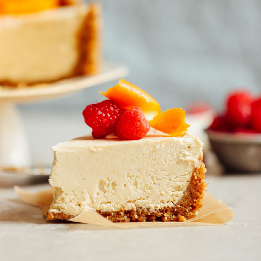 Slice of Coconut Yogurt Cheesecake for our roundup of the BEST Vegan Desserts