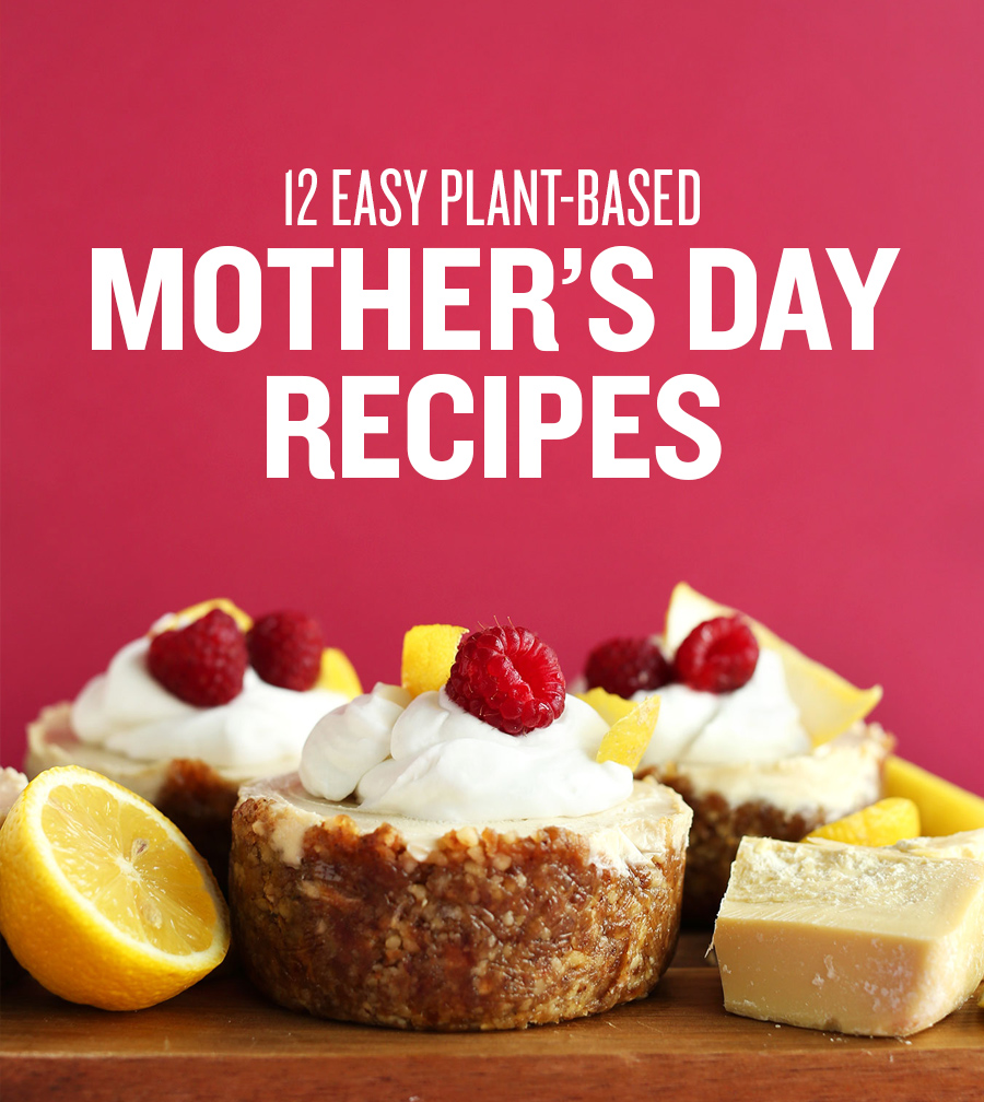 Mini cheesecakes for our Easy Plant-Based Mother's Day Recipes roundup