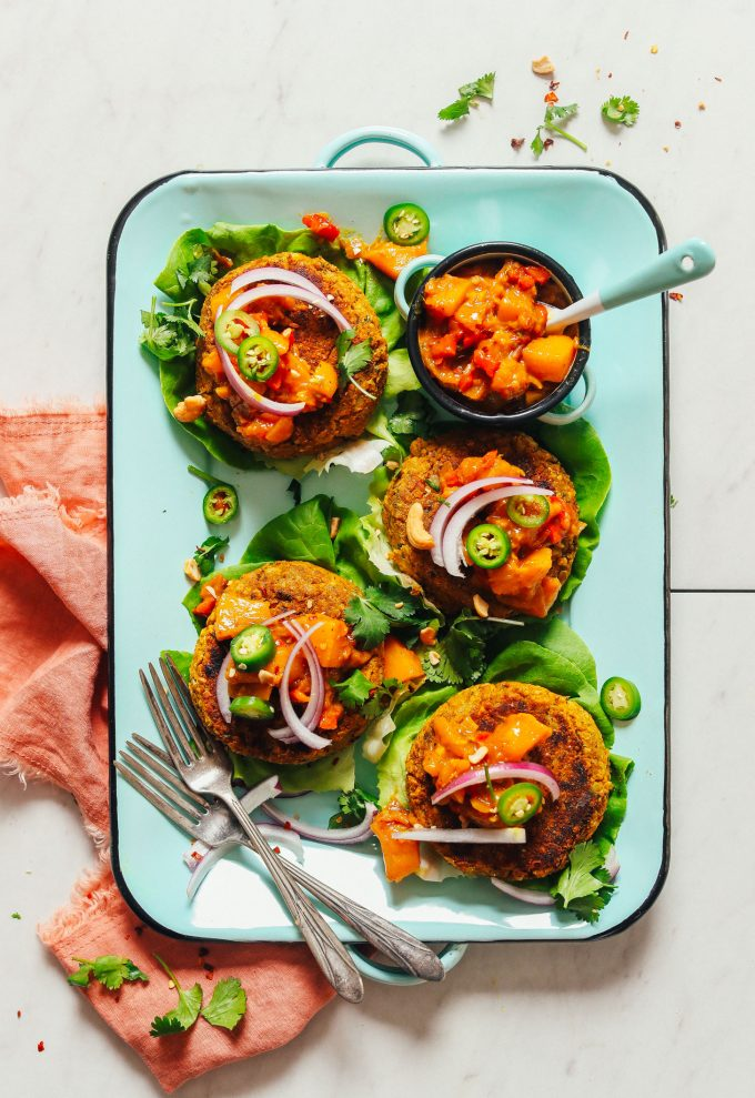 Curried Quinoa Chickpea Burgers