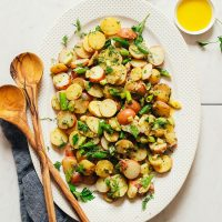 Platter filled with our French-Style Potato Salad recipe
