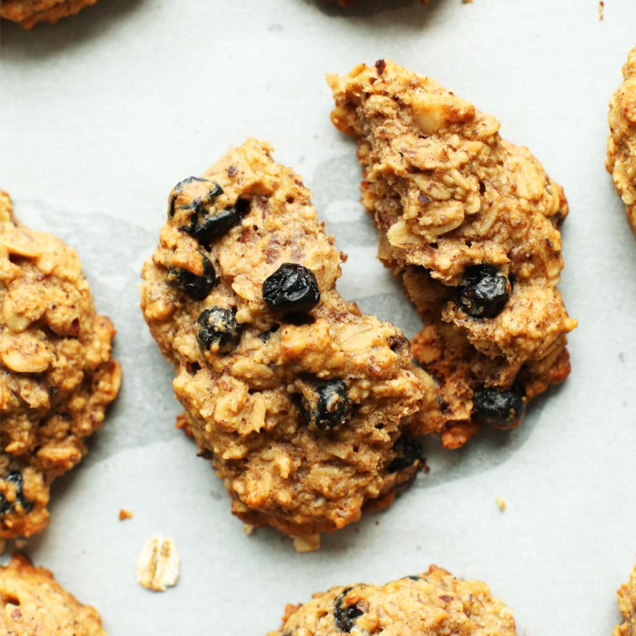 Blueberry Breakfast Cookies for a Plant-Based Summer Road Trip Snack