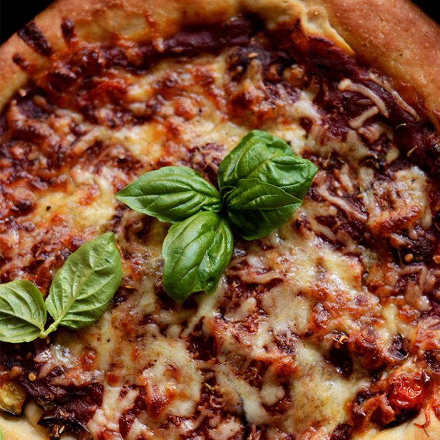 Skillet of Deep Dish Veggie Pizza for our roundup of Plant-Based Recipes for Pizza Night