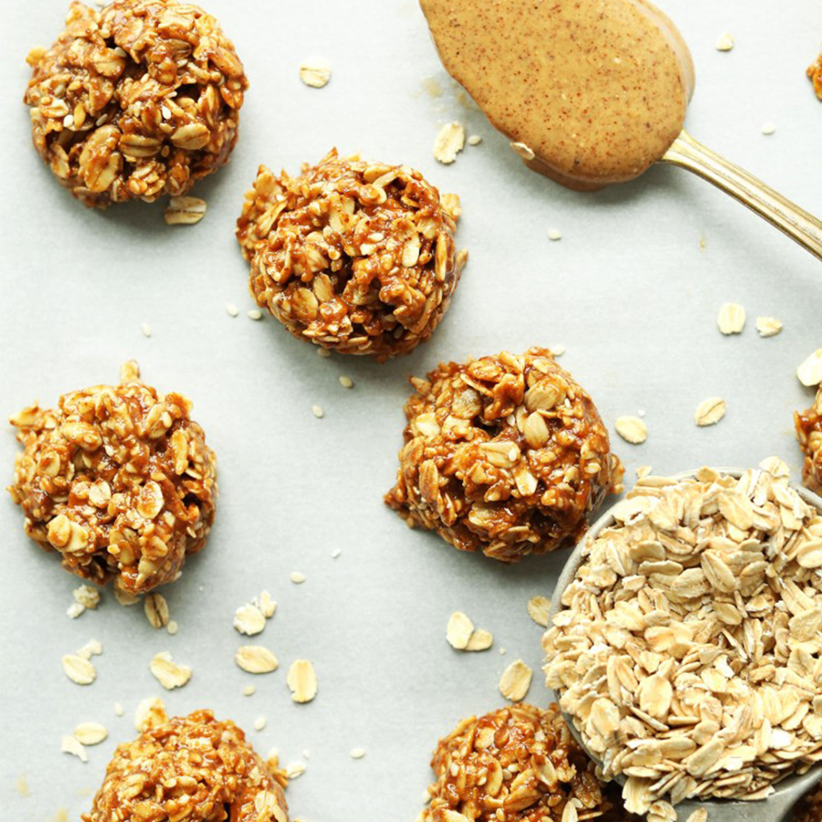 Oats, almond butter, and No-Bake Cookies perfect for road tripping