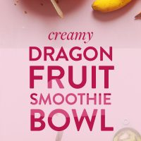 Our delicious Dragon Fruit Smoothie Bowls with kiwi, banana, and fresh dragonfruit