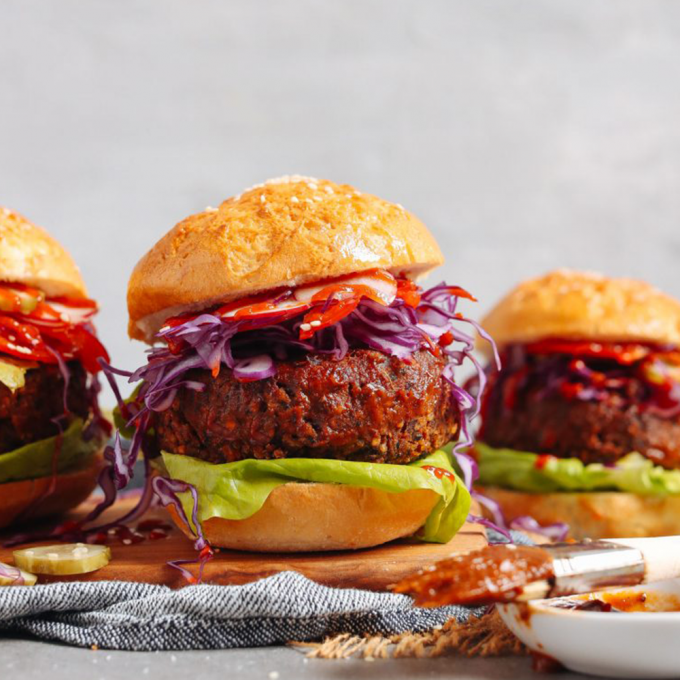 BBQ Black Bean Burgers for a delicious vegan 4th of July meal
