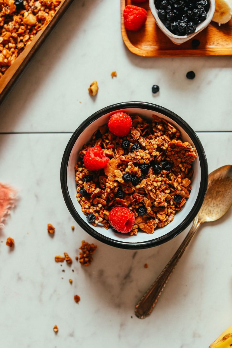 Crunchy Buckwheat Granola from Minimalist Baker on foodiecrush.com