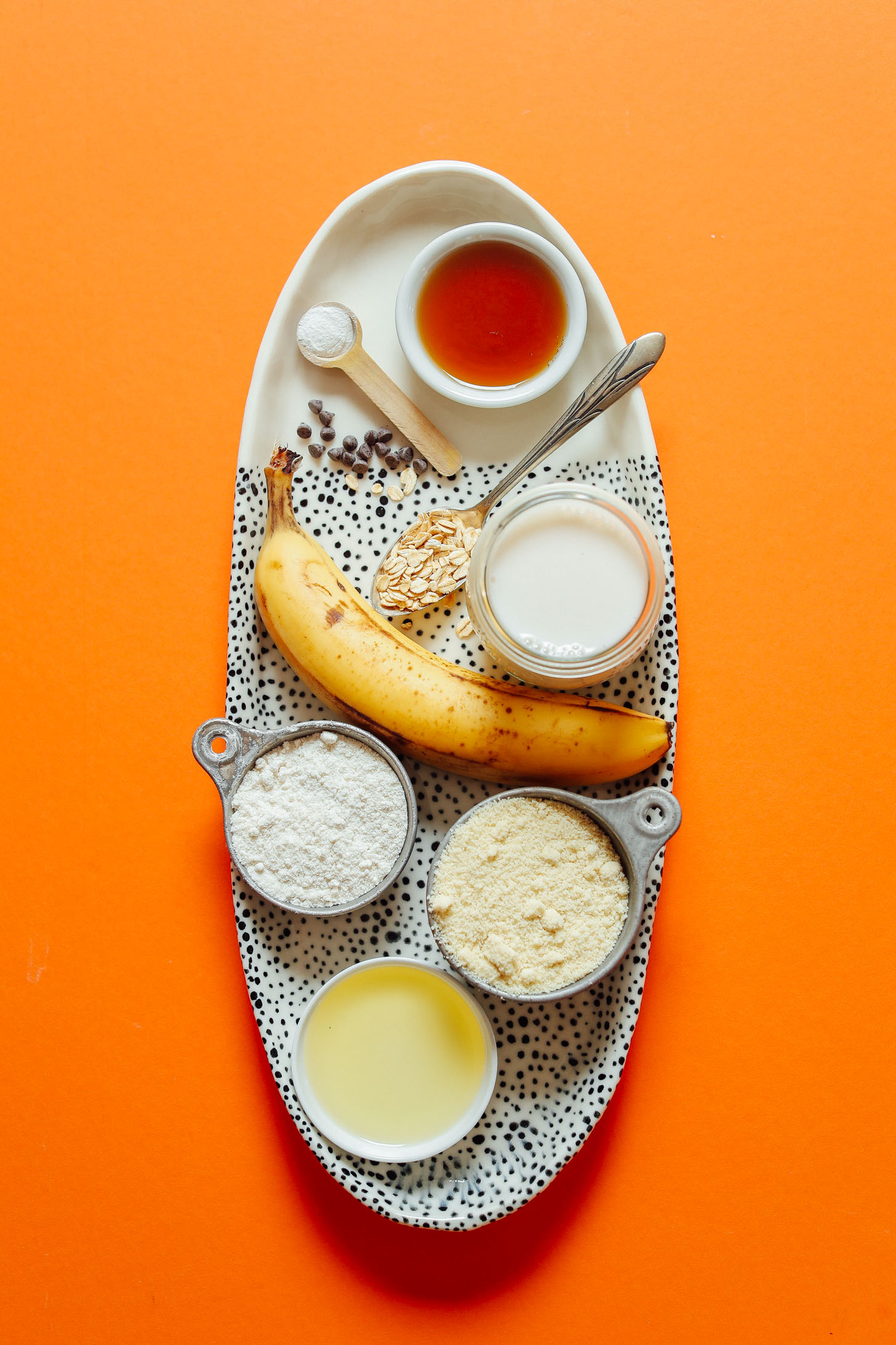 Minimalist baker simple food simply delicious platter of ingredients for making gluten free vegan banana pancakes forumfinder Images