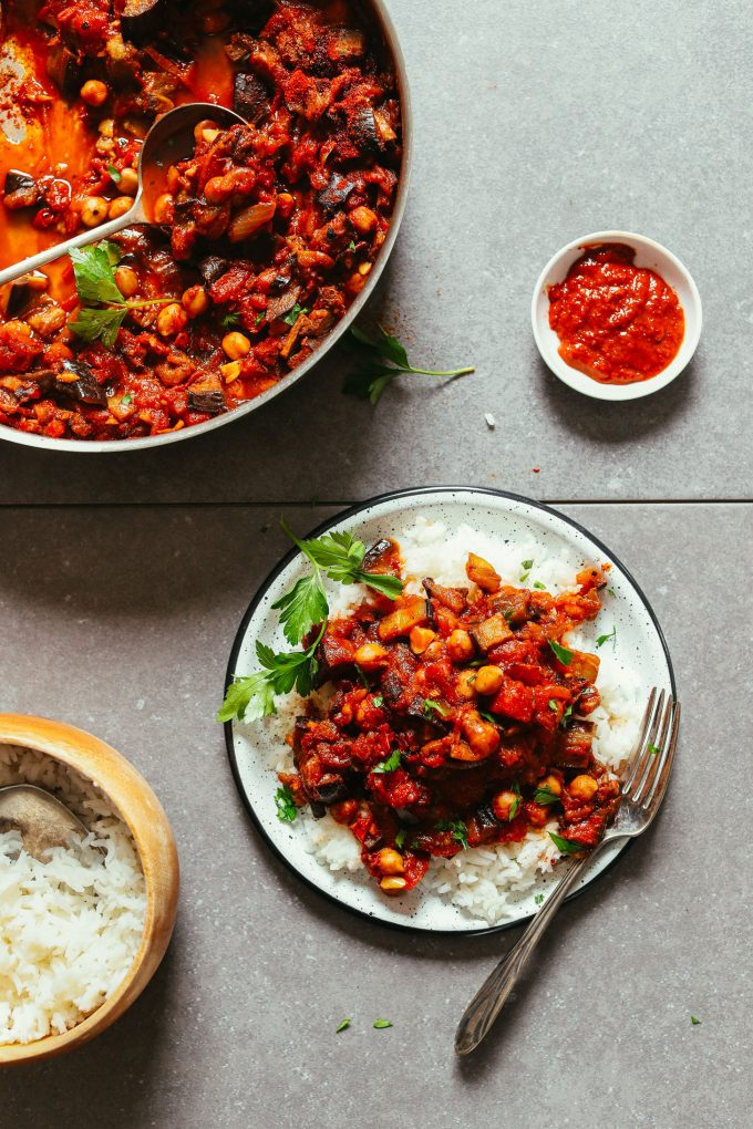 Moroccan-Spiced Eggplant and Tomato Stew