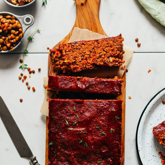 "Vegan Lentil Nut ""Meatloaf"""