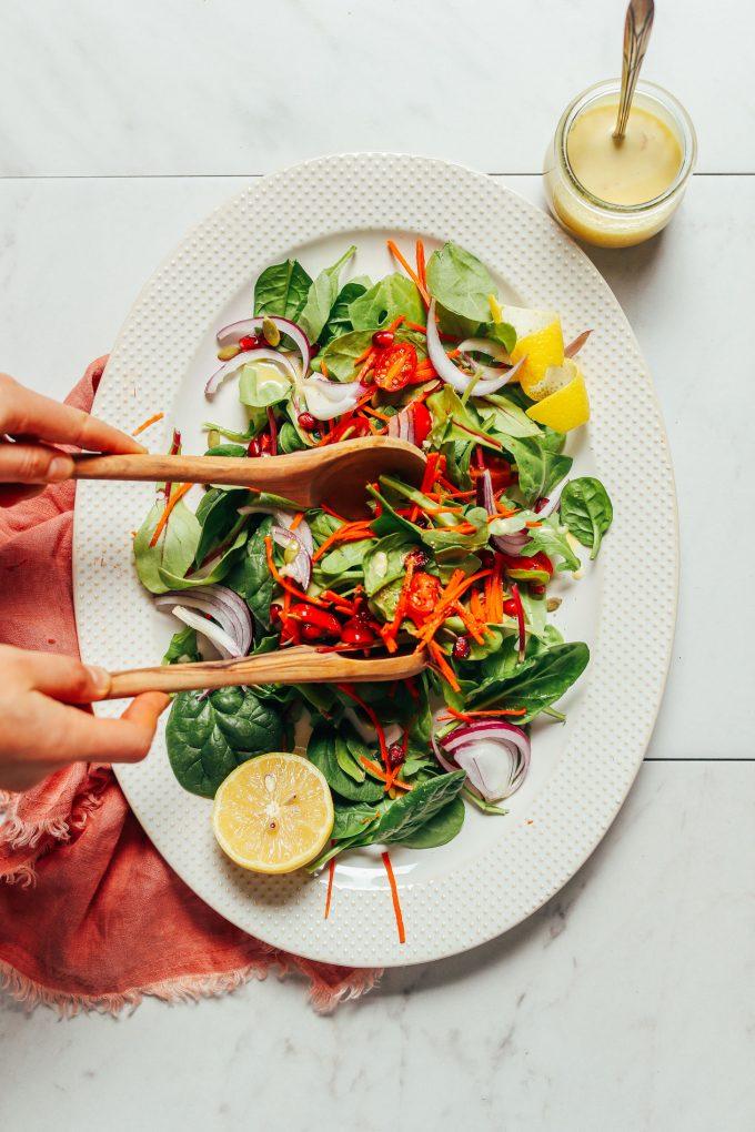 Simple Green Salad with Lemon Vinaigrette