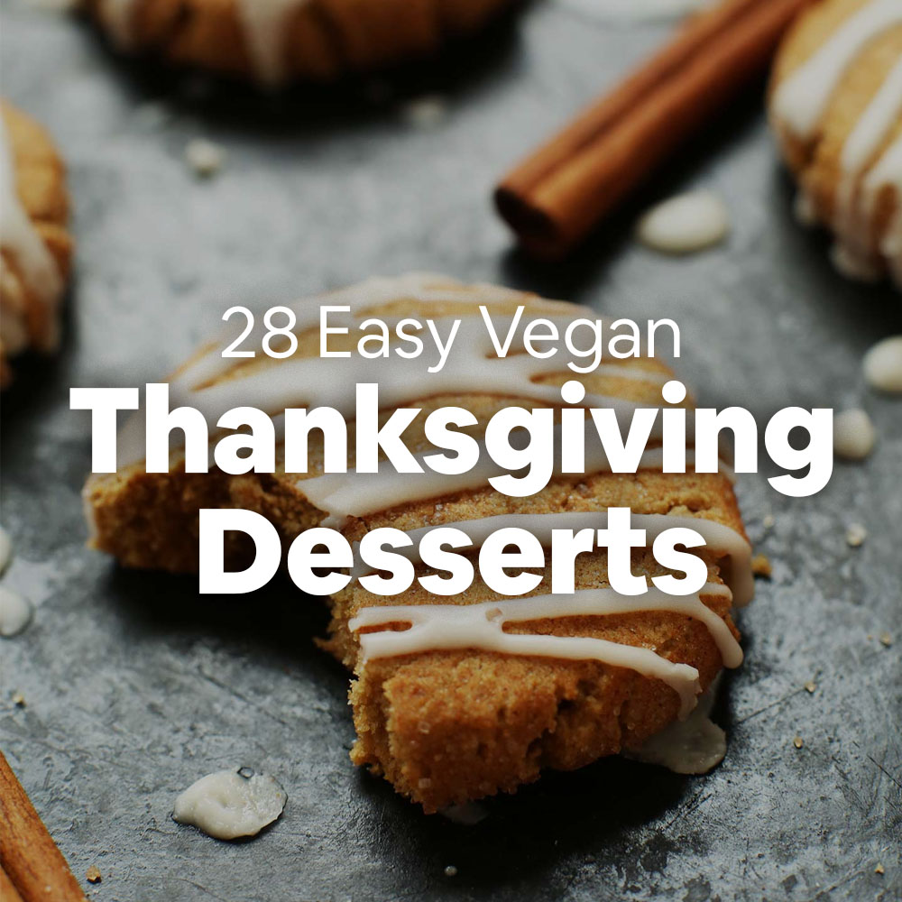 Tray of cookies for our recipe roundup with 28 Easy Vegan Thanksgiving Desserts