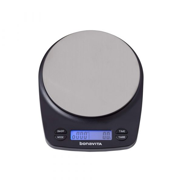 Our favorite Bonavita coffee scale for making excellent coffee