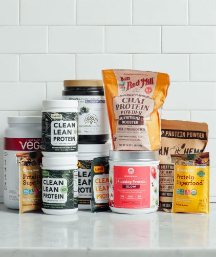 Collection of flavored protein powders for our extensive review