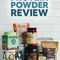 Assortment of Vegan Chocolate Protein Powders for our unbiased review
