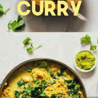 Photos of our Cauliflower Dal Green Curry made with homemade curry paste