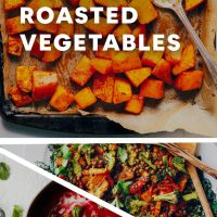 Assortment of recipe photos for our 10 Delicious Uses for Roasted Vegetables roundup