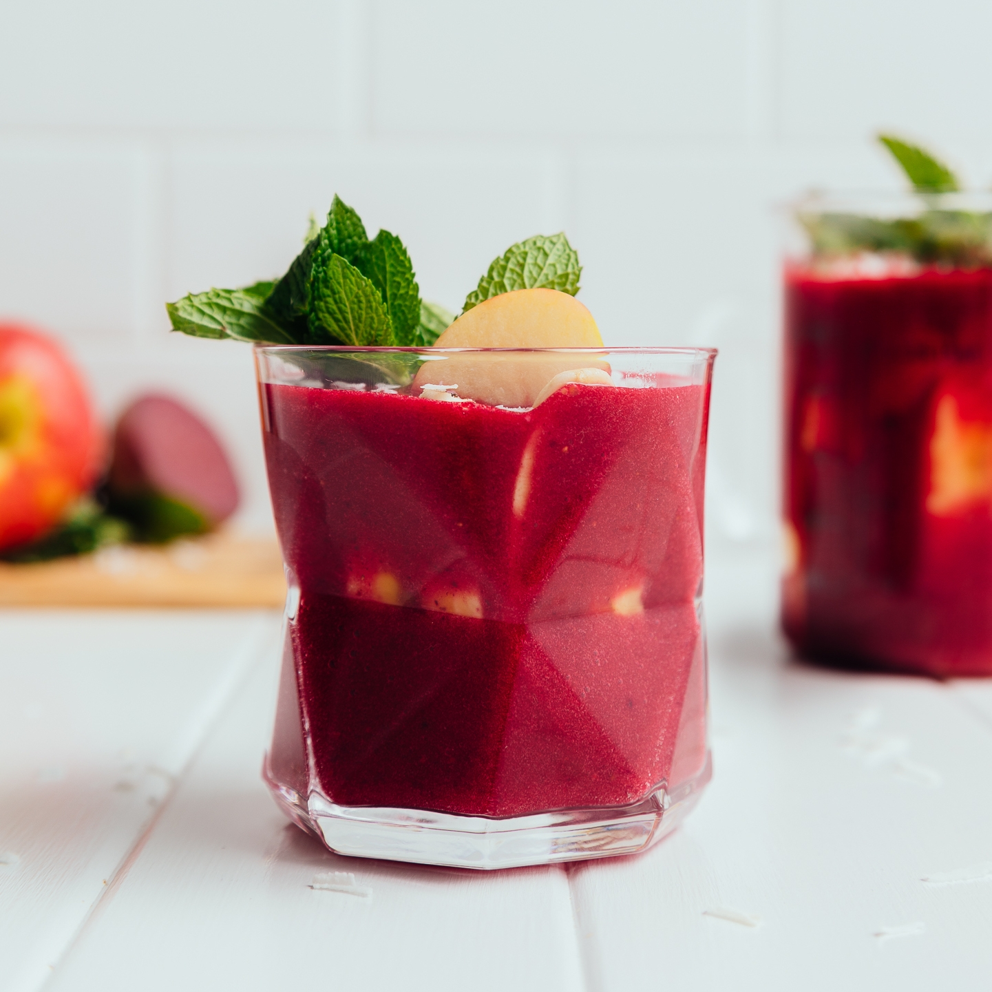 Close up shot of our Detoxifying Beetroot smoothie recipe