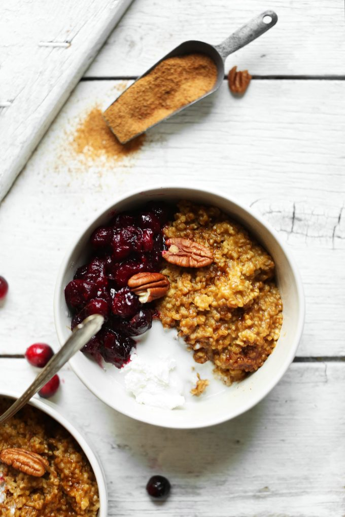 Cranberry Pumpkin Steel Cut Oats