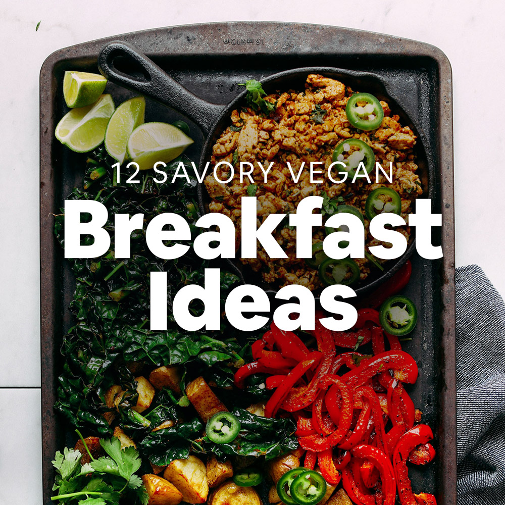 Baking sheet with ingredients for making one of our 12 Savory Vegan Breakfast Ideas