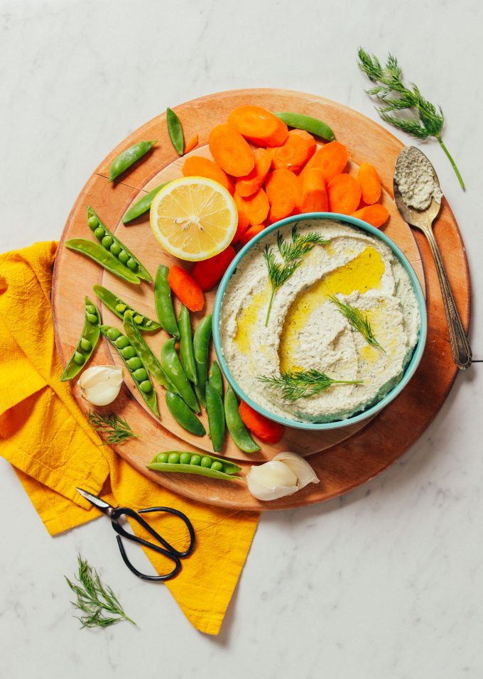 Garlic Dill Sunflower Dip