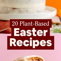 Cake and white chocolate eggs for our 20 Plant-Based East Recipes roundup