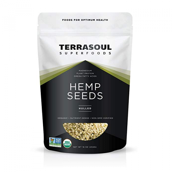 Bag of our favorite hemp seeds