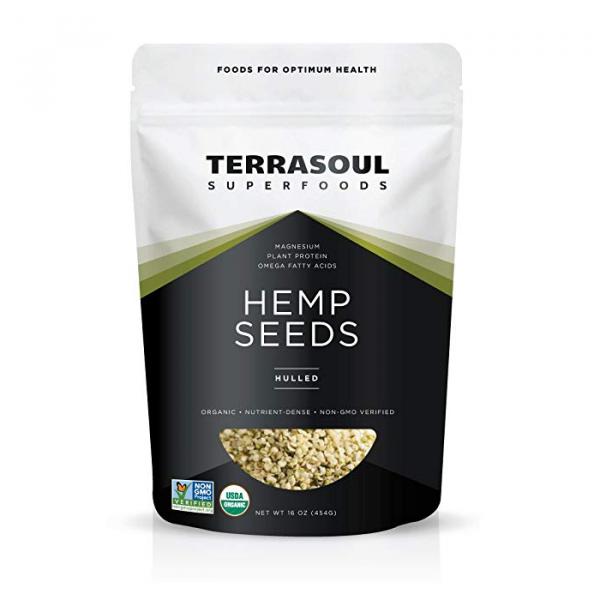 Bag of our favorite hemp seeds