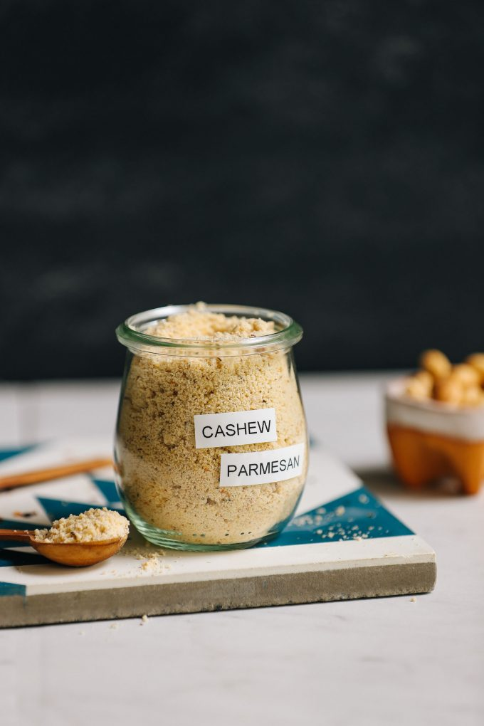 Yeast-Free Cashew Parmesan (5 Minutes!)