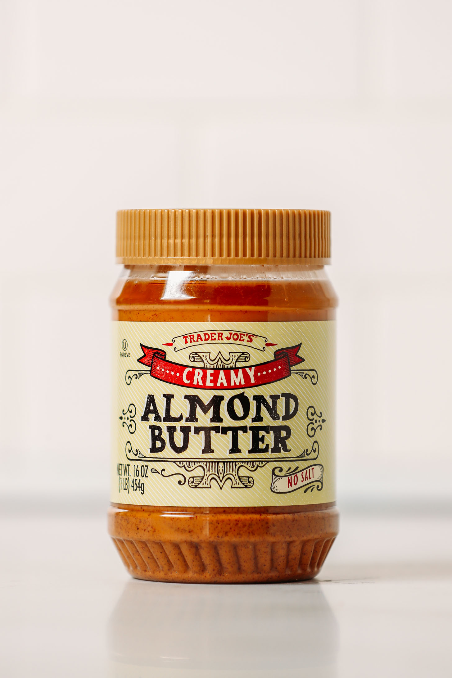 Jar of Trader Joe's Creamy Almond Butter for our unbiased review of almond butters