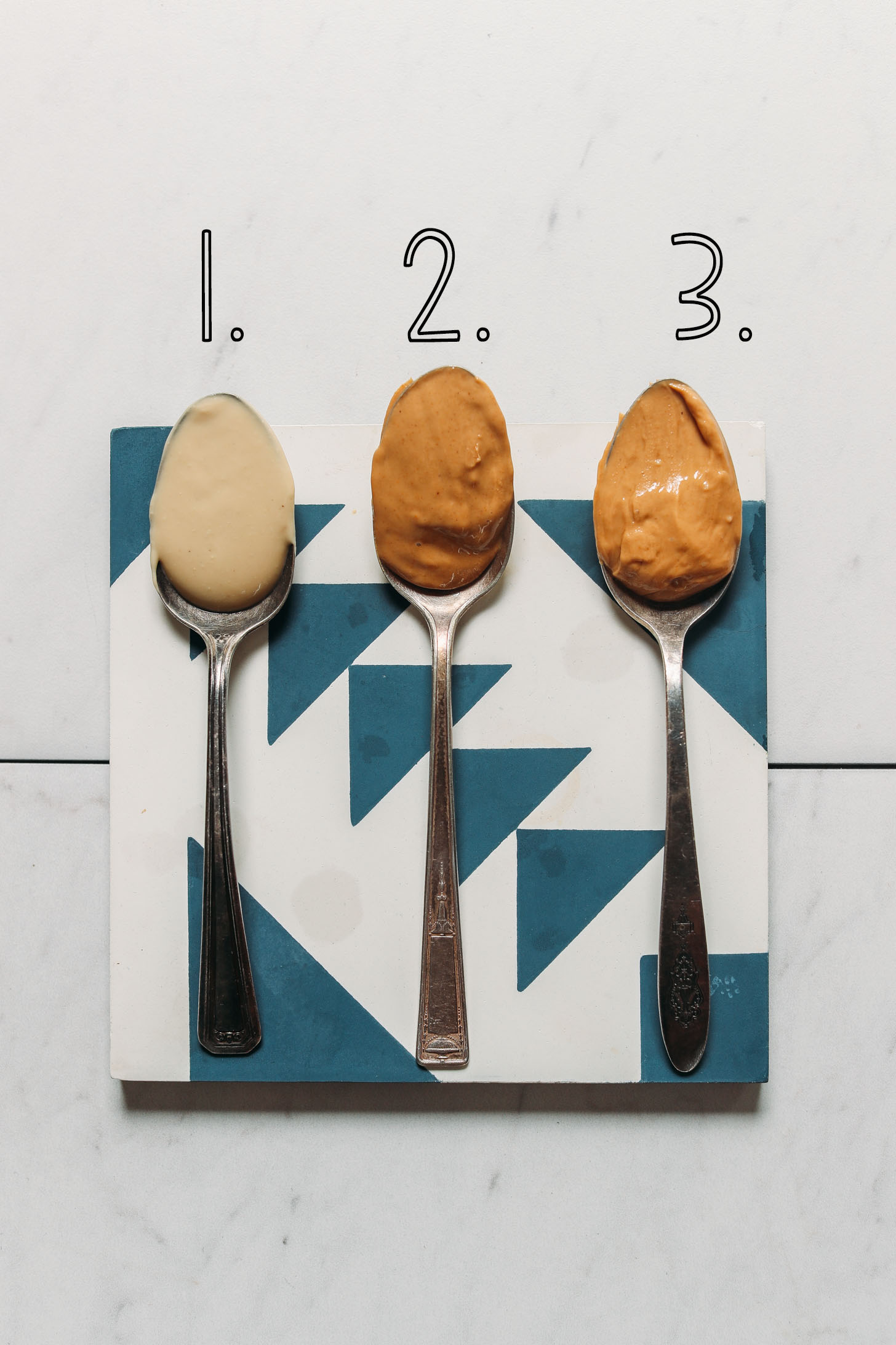 Three spoonfuls of our top 3 favorite cashew butter brands