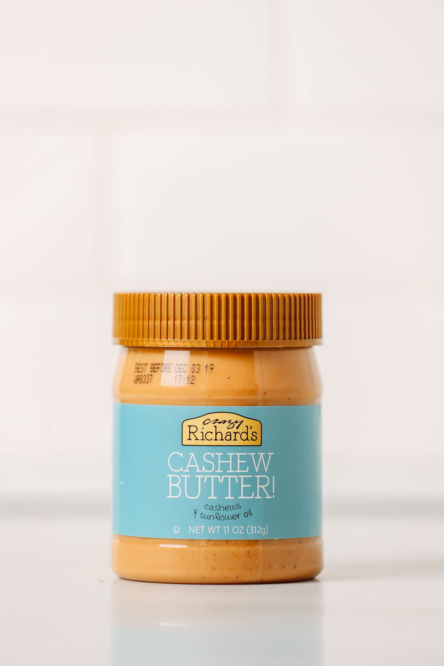 Jar of Crazy Richard's Cashew Butter as part of our cashew butter brands review