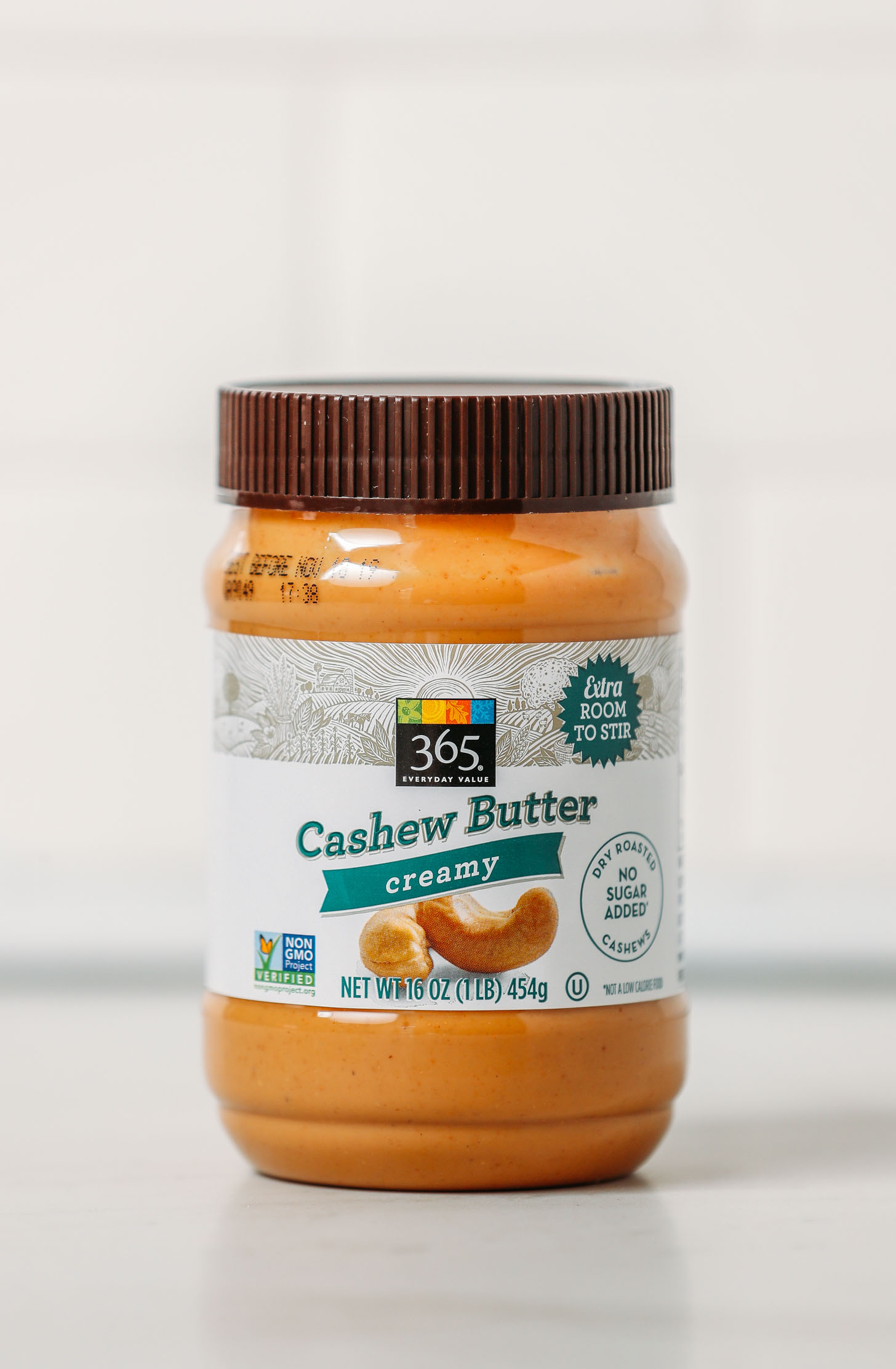 Jar of Whole Foods 365 Cashew Butter as part of our unbiased review of popular cashew butter brands