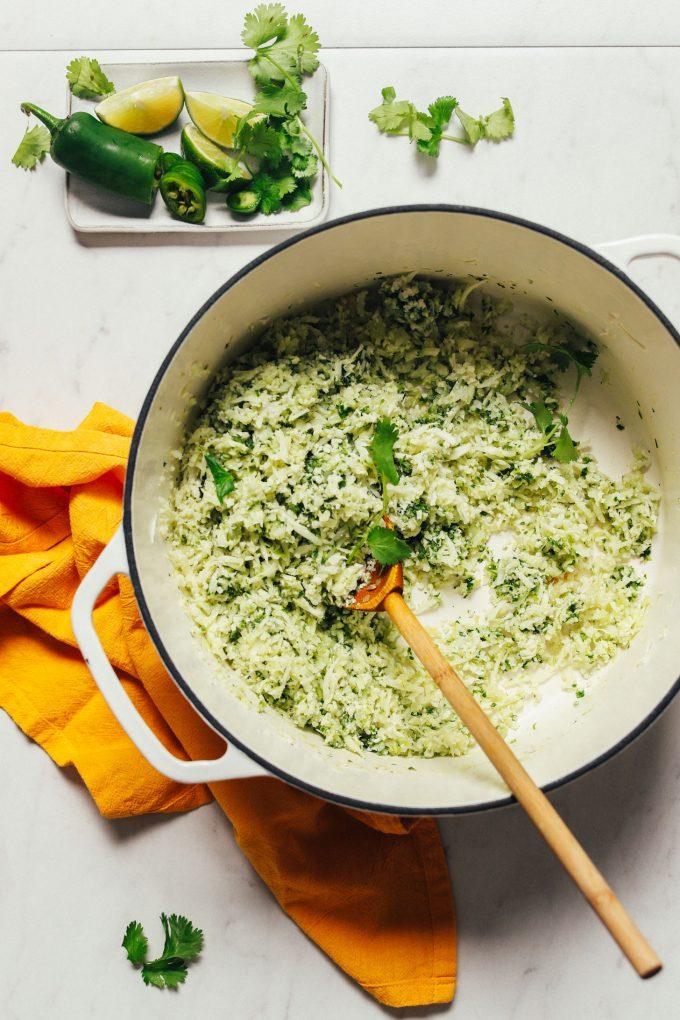 Green Cauliflower Rice (20 minutes!)