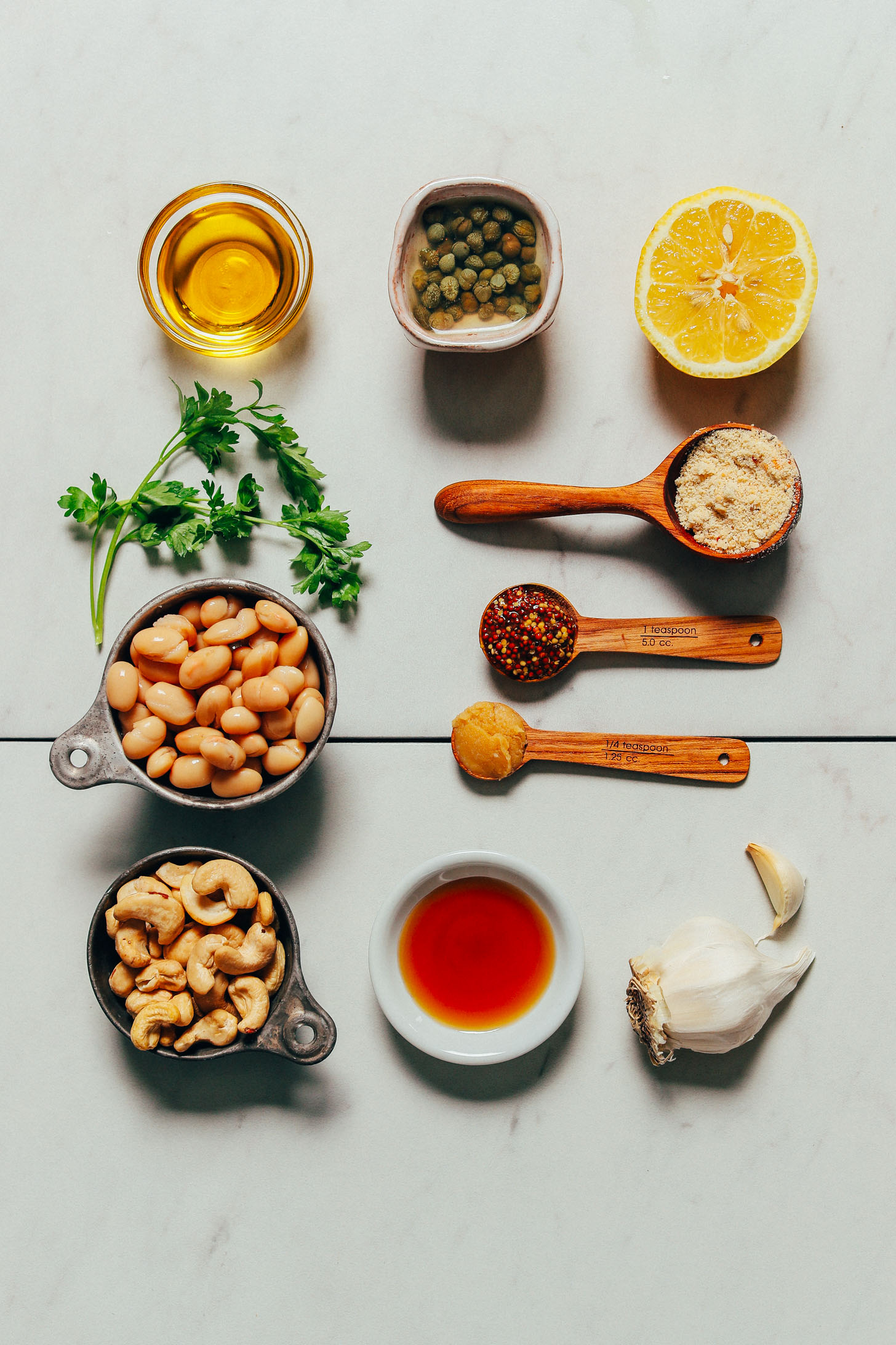 Grilled Romaine Caesar Salad & Herbed Beans | Minimalist