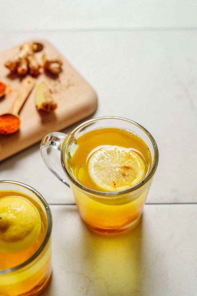 3-Ingredient Ginger Lemon Water