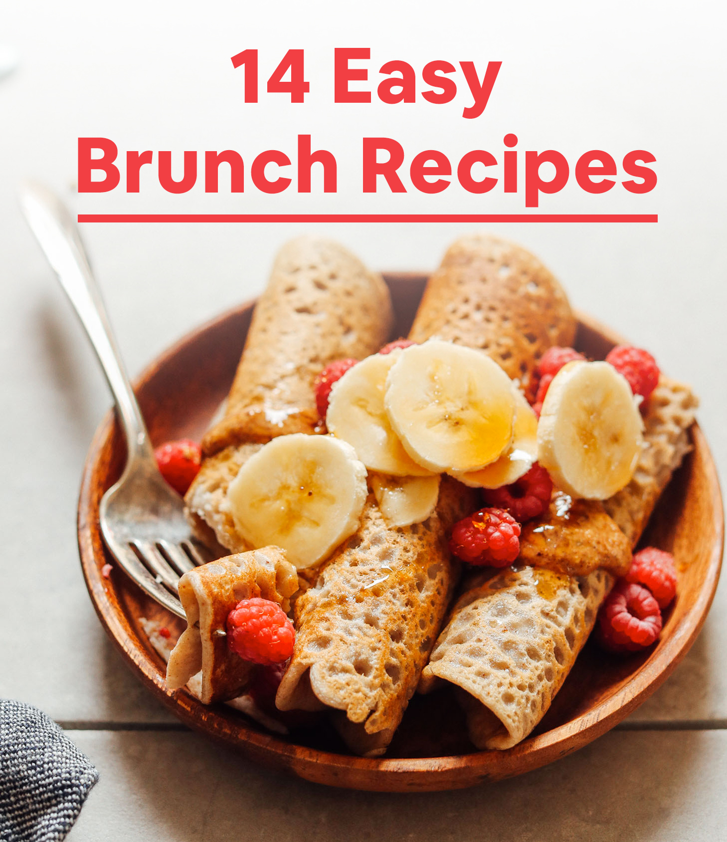Plate of buckwheat crepes for our 14 Easy Brunch Recipes roundup